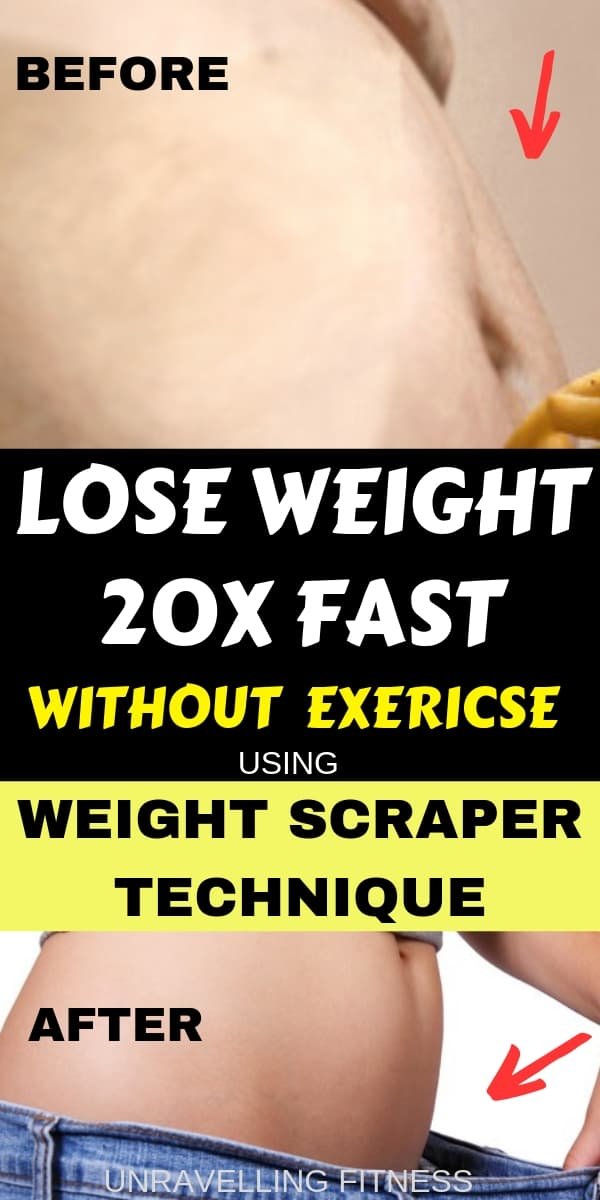 Lose weight without exercise will help you to get fitter and slimmer in a short span of time following the weight scraper technique to lose weight by eating weight loss foods.