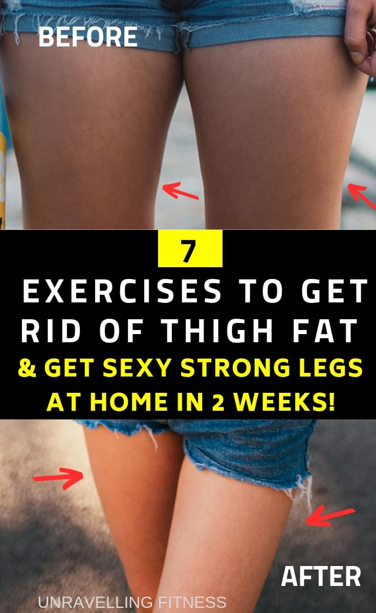 7 EXERCISES TO GET RID OF STUBBORN THIGH FATS.These thigh fat reduction exercises will help you in attaining slimmer and stronger legs in few weeks without the need of following any strict training regime.