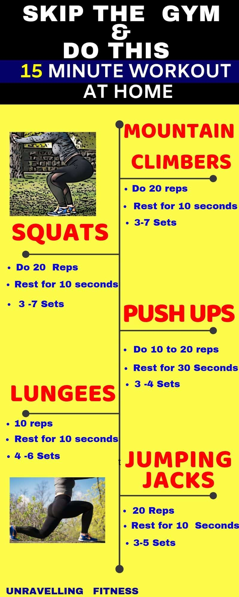 HIIT workouts substitue,Do these 15 minute workout and skip gym
